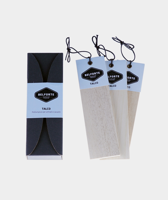 Scented woods for wardrobes and drawers Talcum