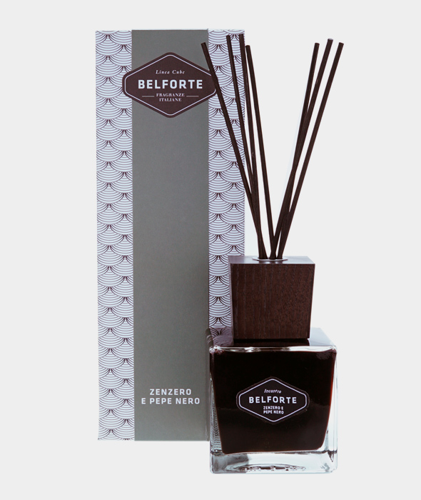 Diffuser 200 ml Black Cube Ginger and Black Pepper