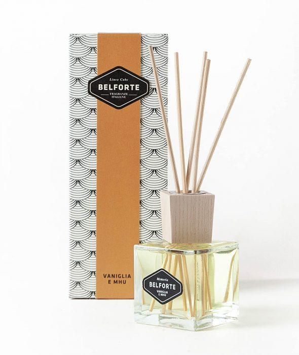 Diffusore bastoncini fragranza Vaniglia e Mhu