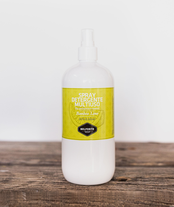 Sanitizing multi-purpose spray with Bamboo Lime fragrance