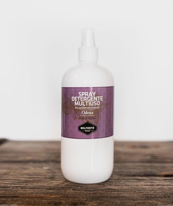 Sanitizing multi-purpose spray with Odessa fragrance